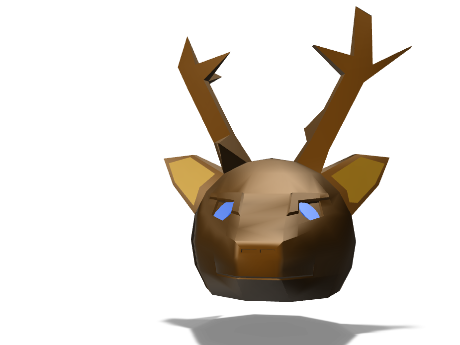REINDEER - 3D design by Alex Evans on Dec 20, 2017