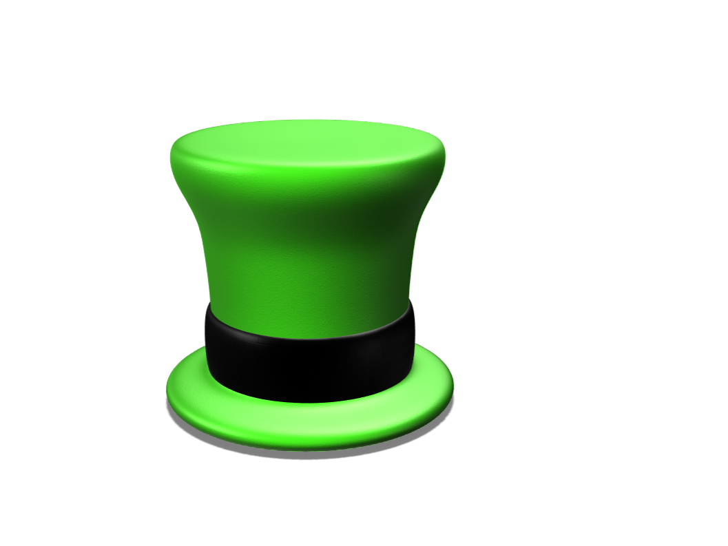 leprechaun hat - 3D design by Dom Samuka on Apr 10, 2018
