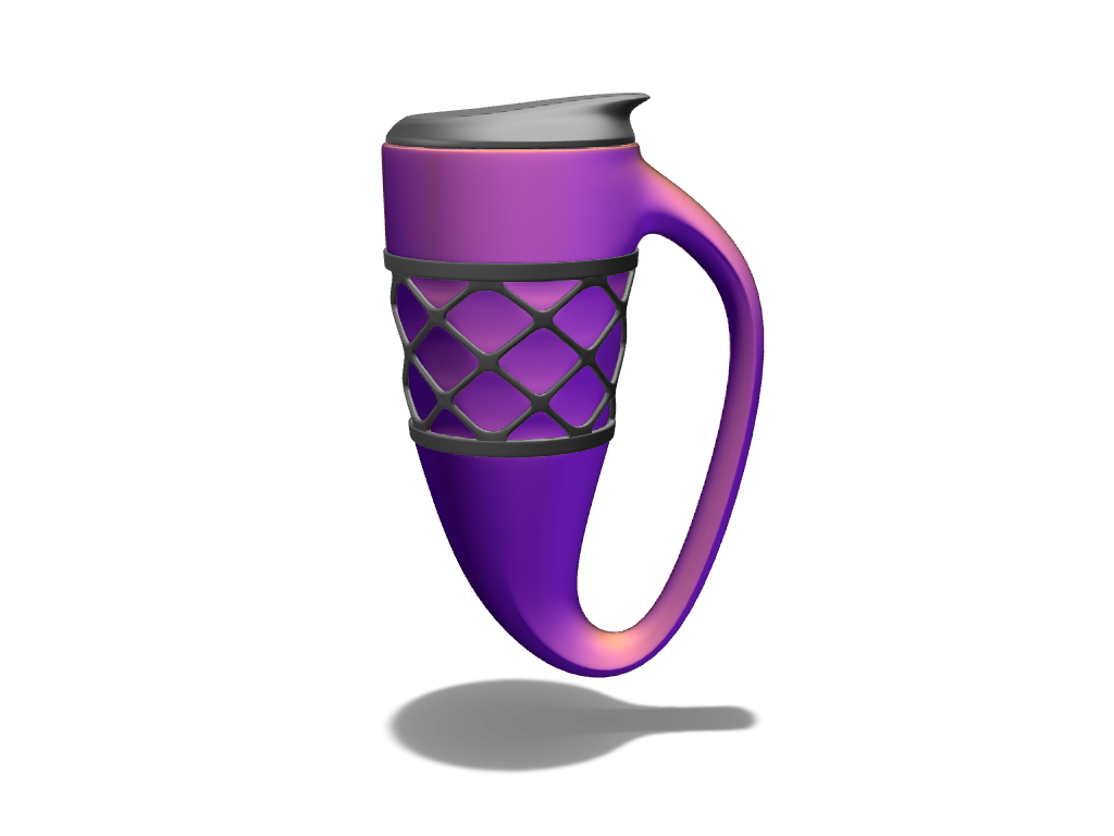 Coffee mug - 3D design by Johnnyal Oct 17, 2016