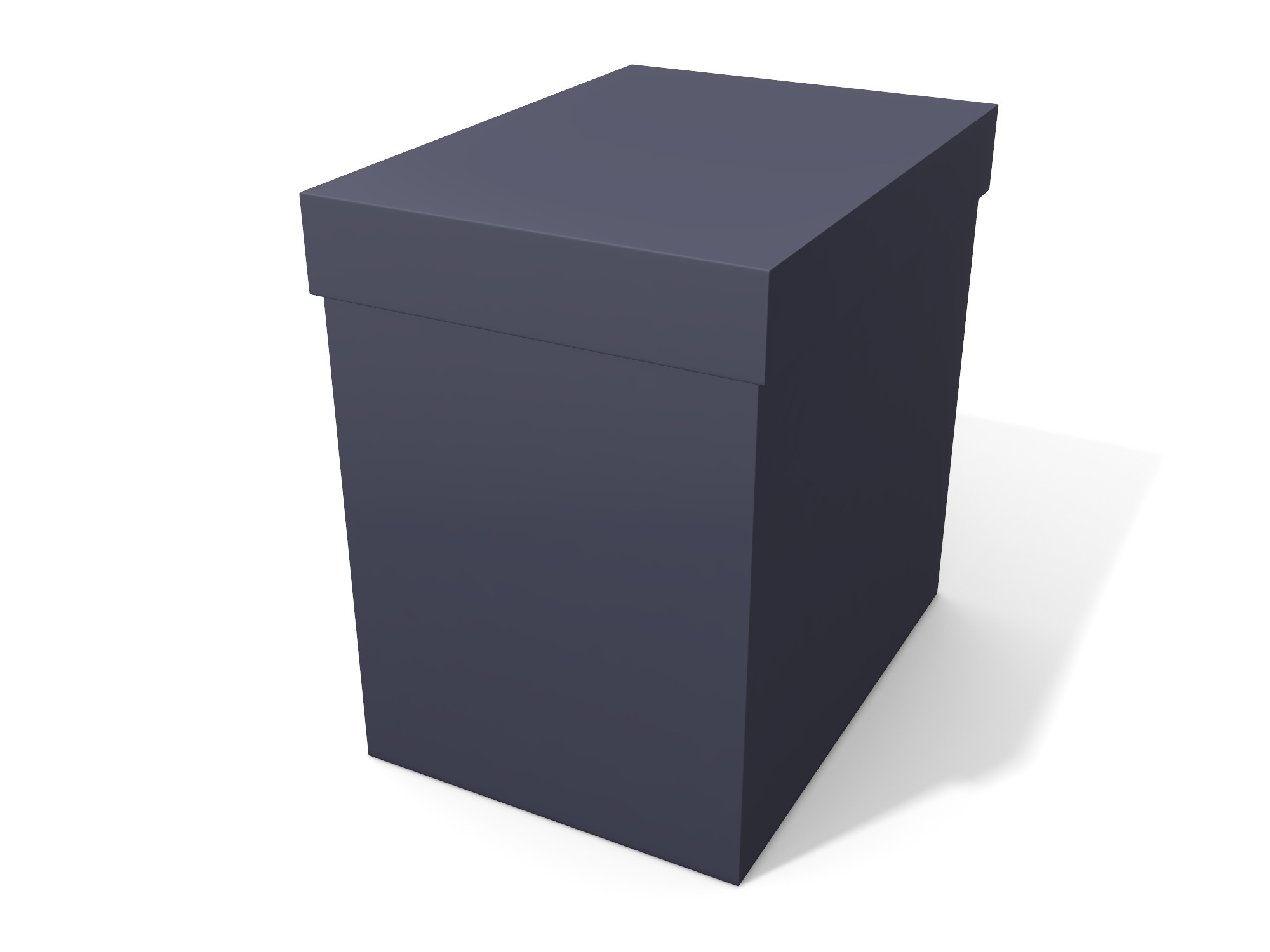 Box with lid 140 × 140 × 100 - 3D design by Vectary assets Nov 6, 2018