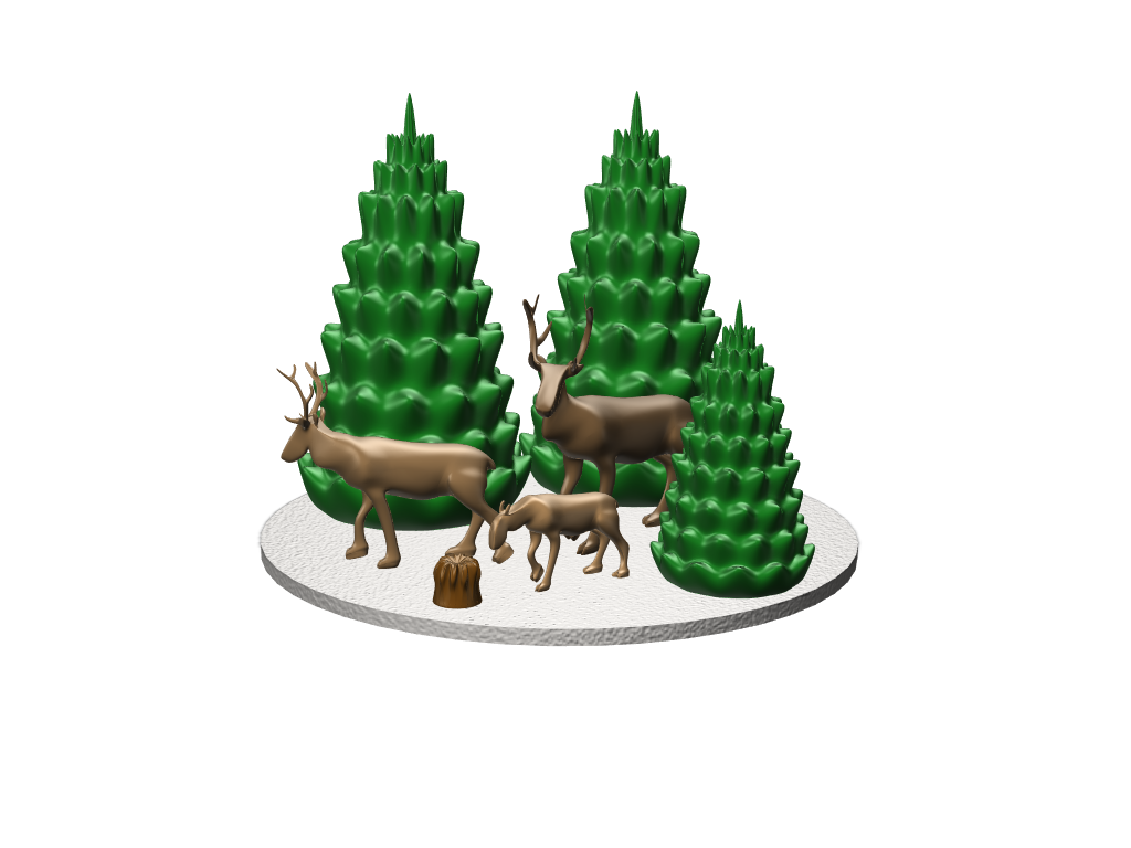 Reindeer Night - 3D design by jonas.nasstrom Dec 18, 2017