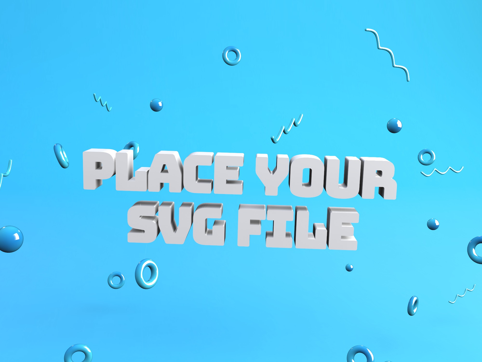 Create a 3D logo - place your SVG file - 3D design by Vectary templates on Jul 18, 2018