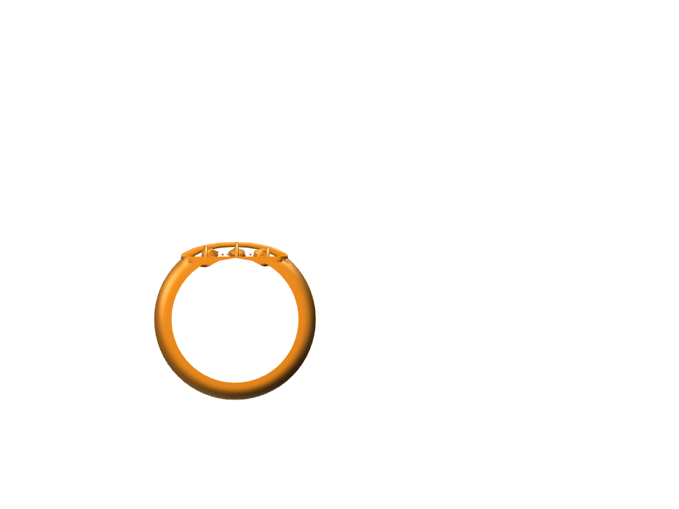 Project Namegold ring no.1 - 3D design by jacobliapis Aug 31, 2017