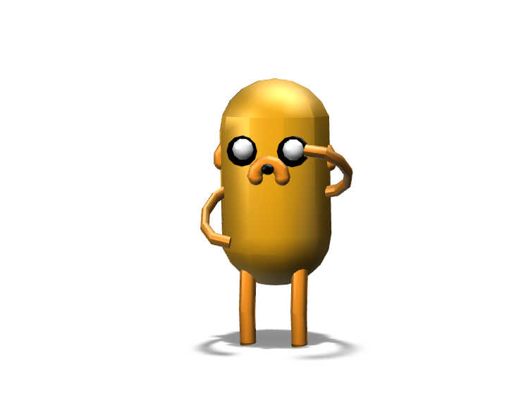 Jake The Dog - 3D design by Hammerhit 36 on Oct 23, 2017