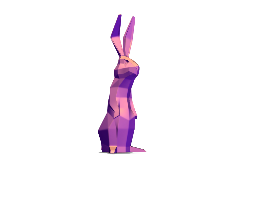 Low Poly Easter Bunny - 3D design by kpjazrawi Apr 22, 2018