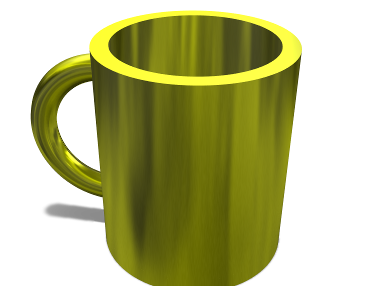 Golden coffeemug - 3D design by jjneedhamcook Jan 27, 2018
