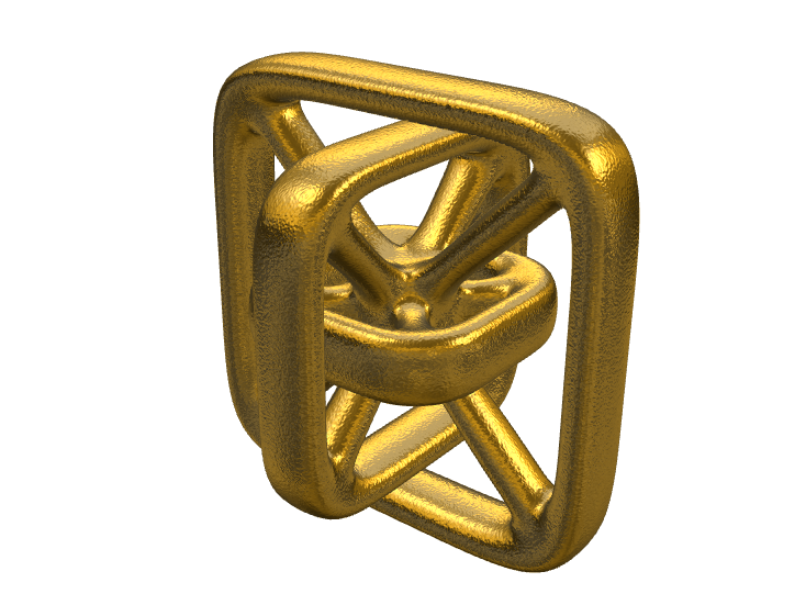 Geometrical pendant Square - 3D design by ilmar3designs Nov 27, 2017