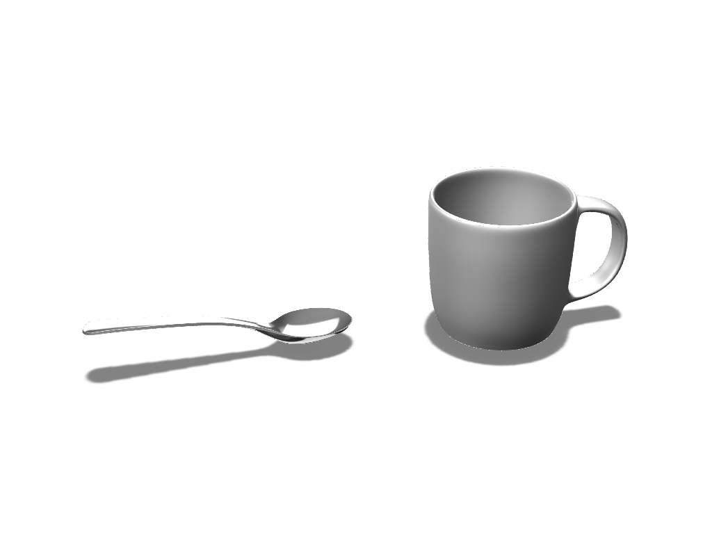 Mug&Spoon - 3D design by VECTARY Nov 14, 2016