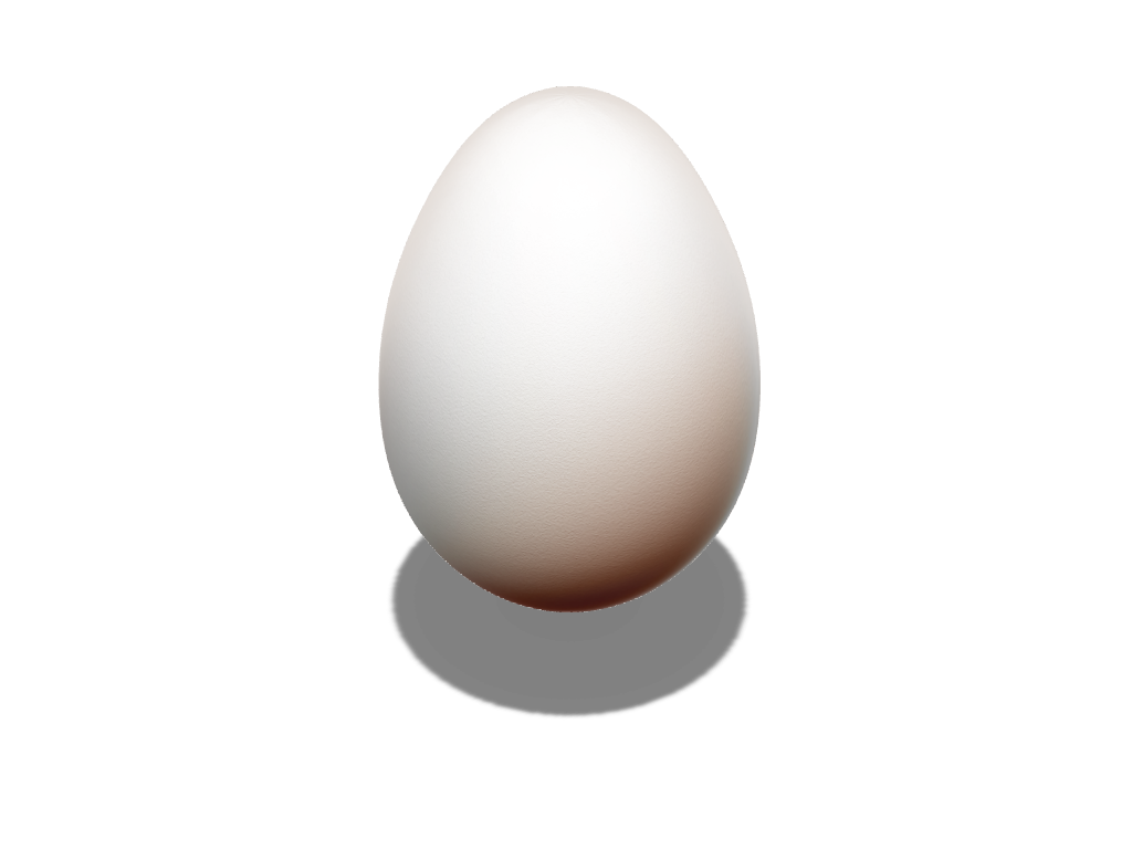 Egg - 3D design by VECTARY Mar 27, 2017