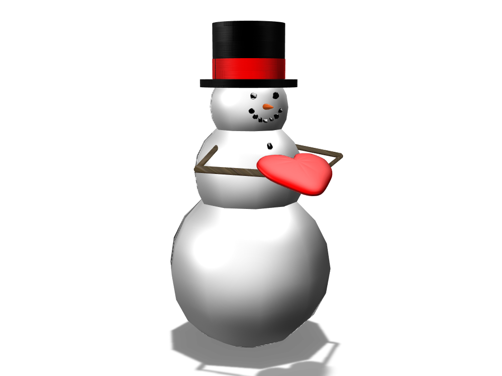 Snowman - For You - 3D design by faydfgame Mar 28, 2018