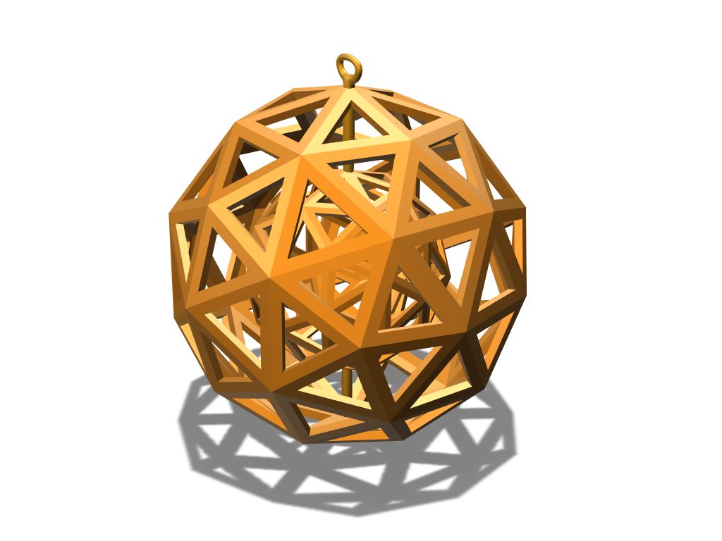 Polyball Christmas Decoration - 3D design by aukevandijk03 on Jan 12, 2018