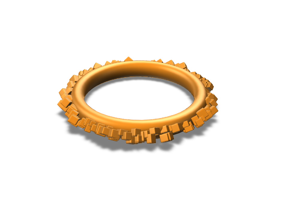 Destroyed ring (Boolean to be added) - 3D design by Thibaut DEVERAUX Jan 14, 2018