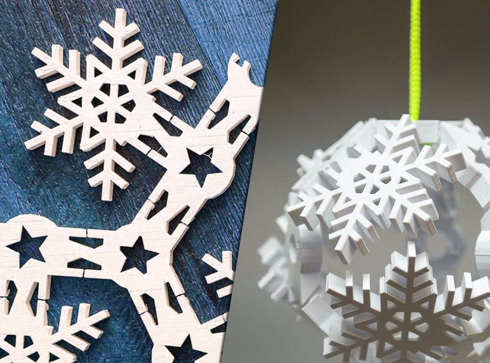 Vase Mode Origami Snowflake Bauble - 3D design by Clockspring on Dec 1, 2017