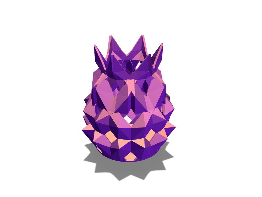 The Low poly Lotus Vase - 3D design by Enish Pastagia on Sep 15, 2017