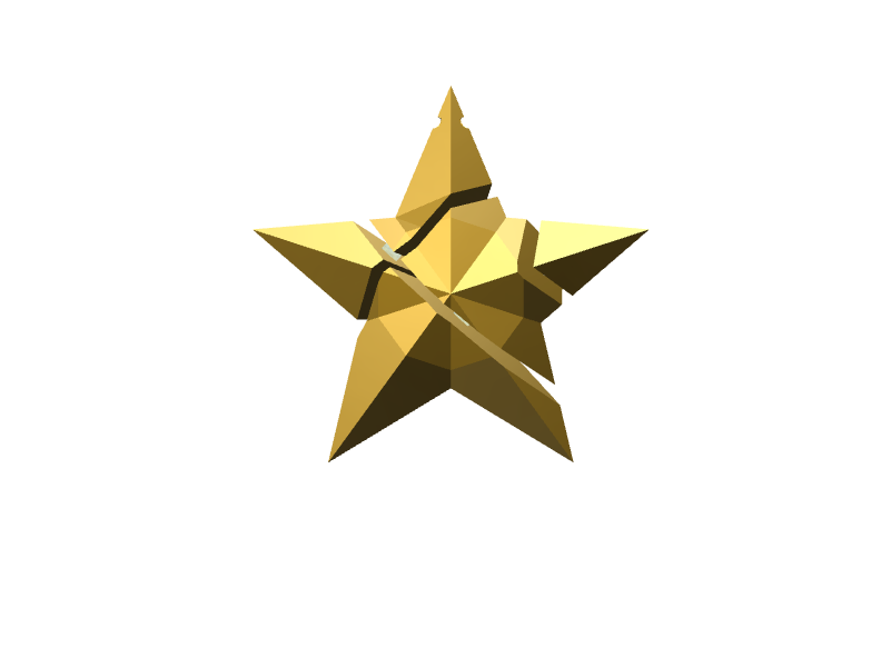 Xmas Fragmented Star - 3D design by RxR Dec 5, 2017