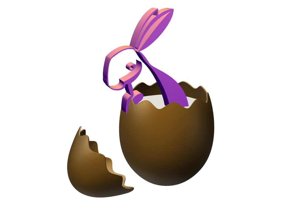Chocolate Eggbbit  - 3D design by Milan Gladiš Apr 15, 2017