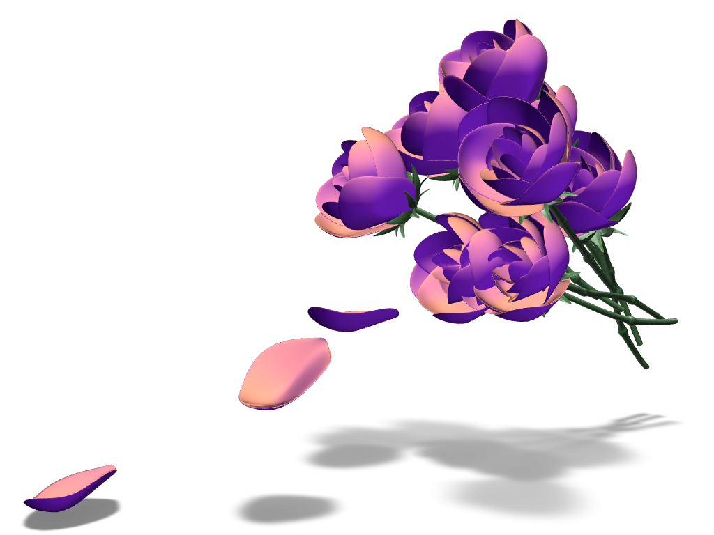 Lover's Flowers - 3D design by Andy Klement Mar 8, 2017