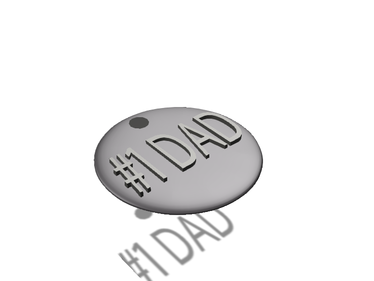 Number 1 DAD Token - 3D design by Gabriel Lopez Dec 2, 2017