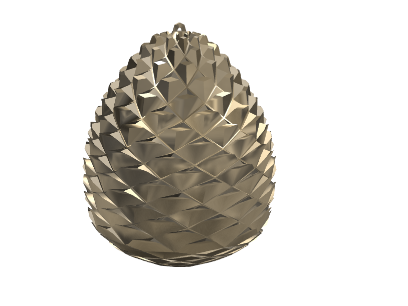 Pinecone-shaped deko - 3D design by Andy Klement Nov 13, 2017