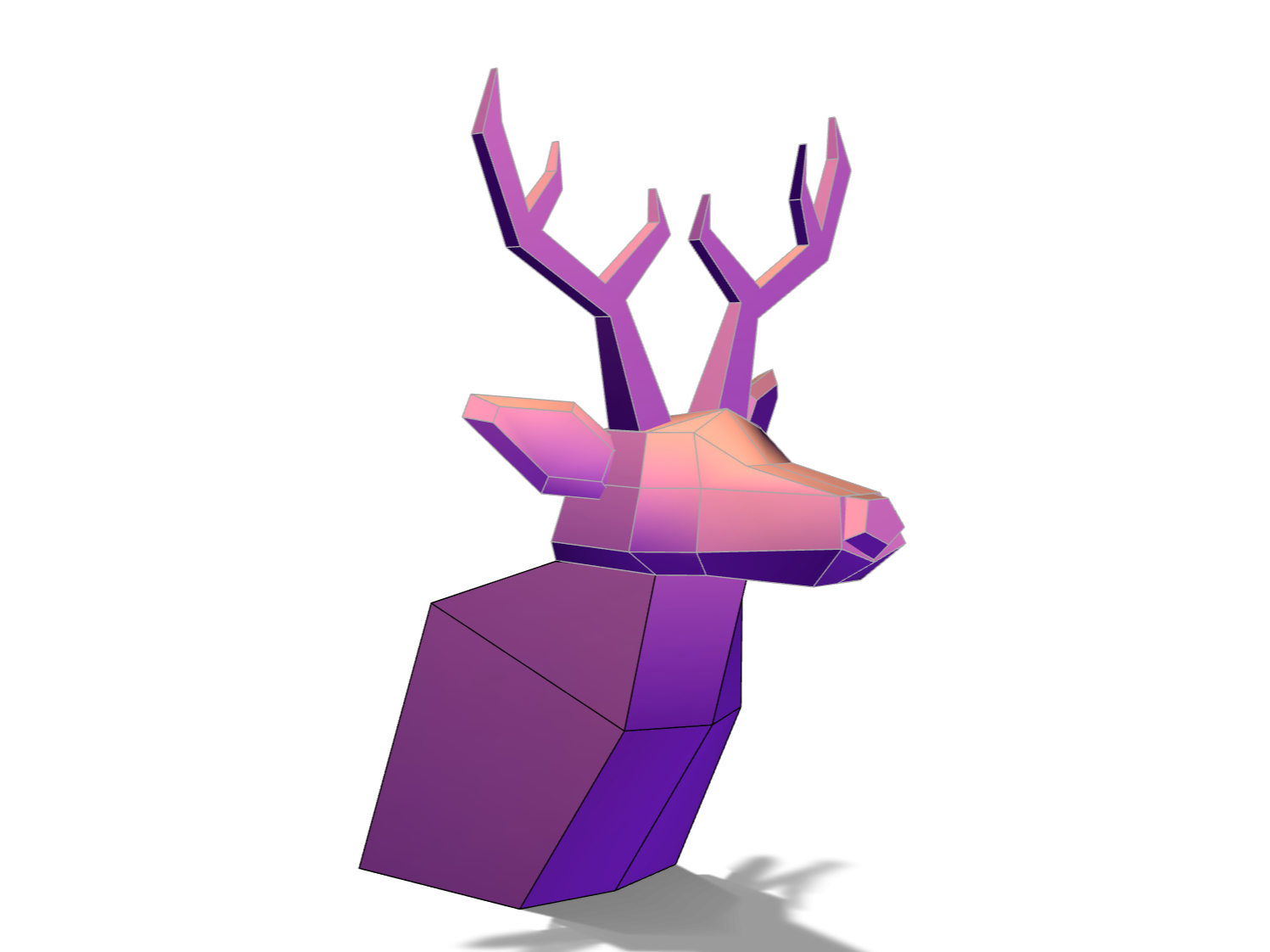 Low poly deer - 3D design by Youri Lepointe Dec 5, 2017