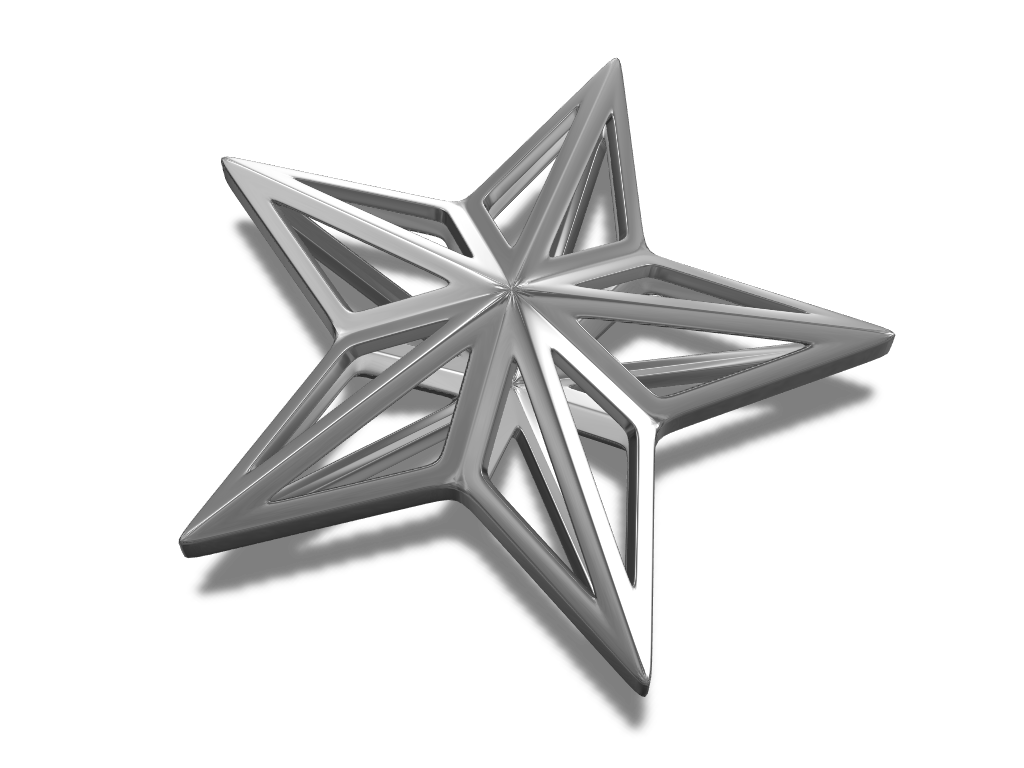 Star bauble - 3D design by cotir Dec 18, 2017