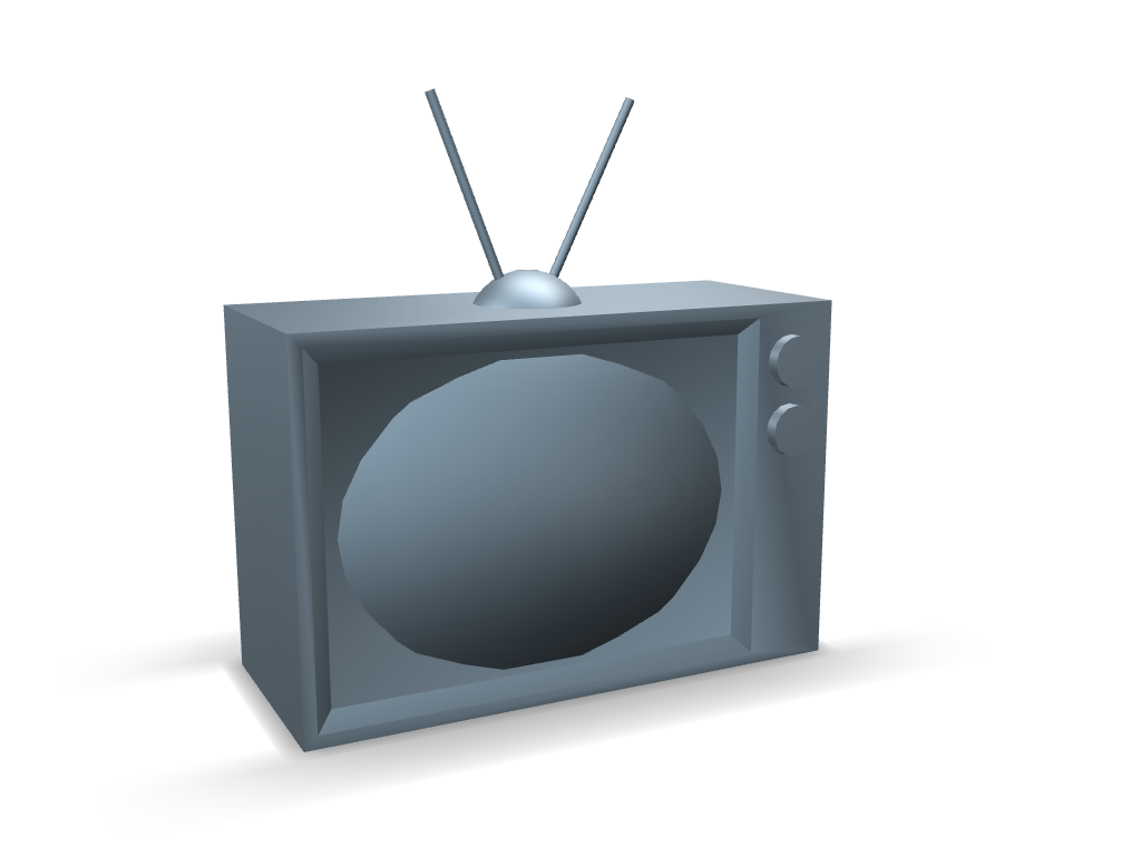 Vintage TV - 3D design by snewpy on Feb 9, 2017