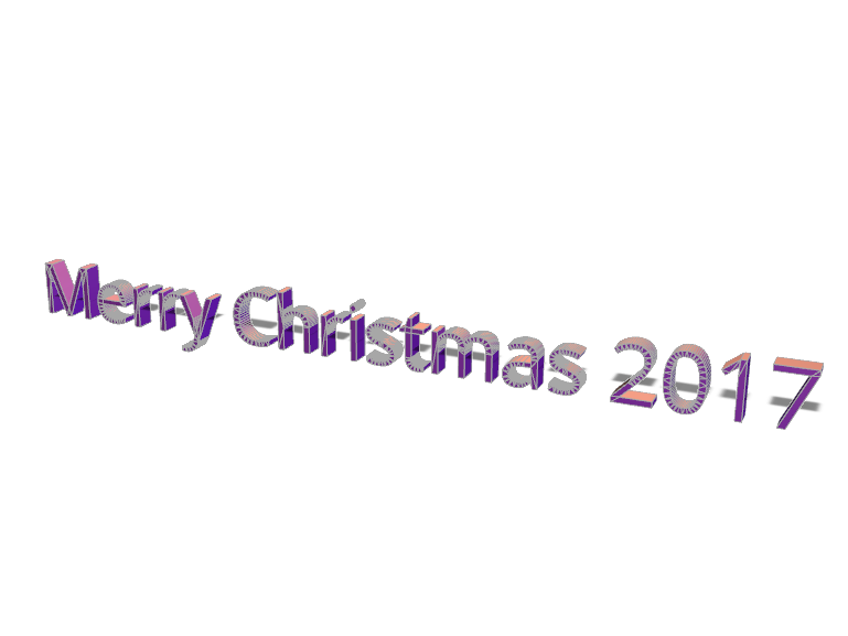 Merry Christmas 2017 - 3D design by Marian Gesulga Nov 23, 2017