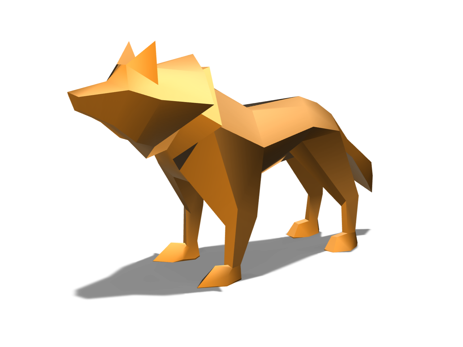 Low poly wolf - 3D design by Youri Lepointe on Dec 11, 2017