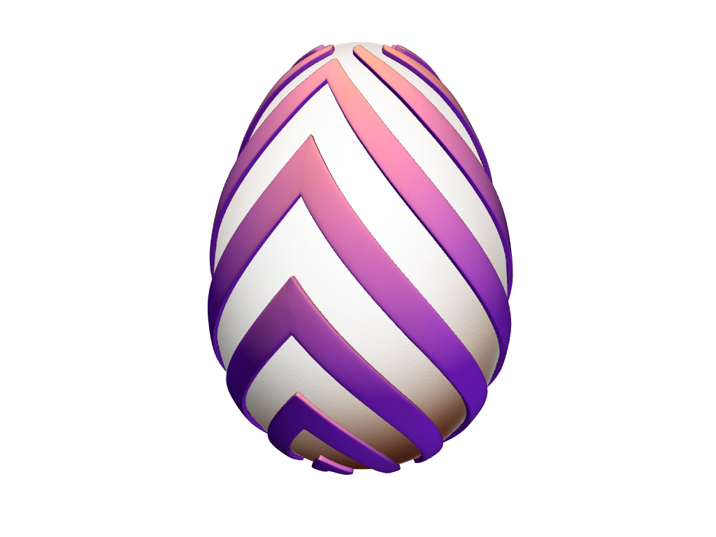 DIY Easter Egg  - Fish ribbon pattern - 3D design by VECTARY Apr 10, 2017