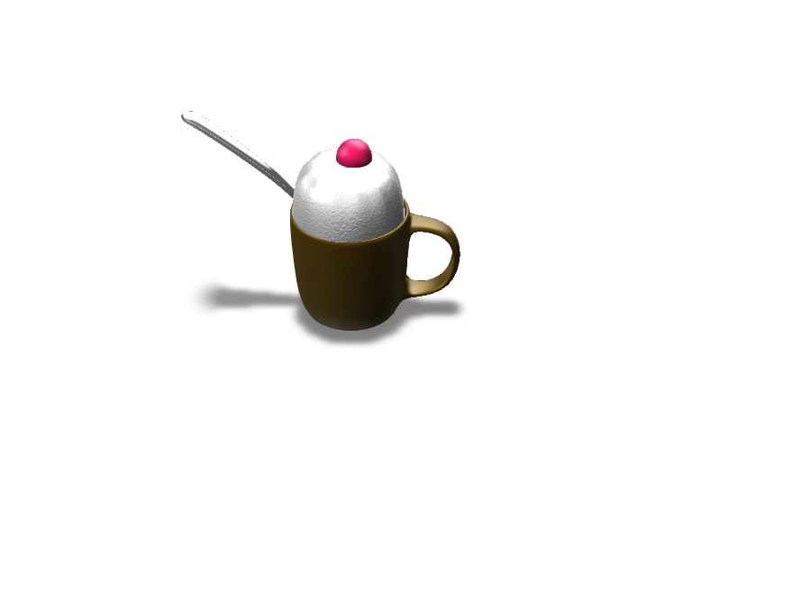 Ice Cream In Mug Cup - 3D design by LEGEND OF LONK May 29, 2018