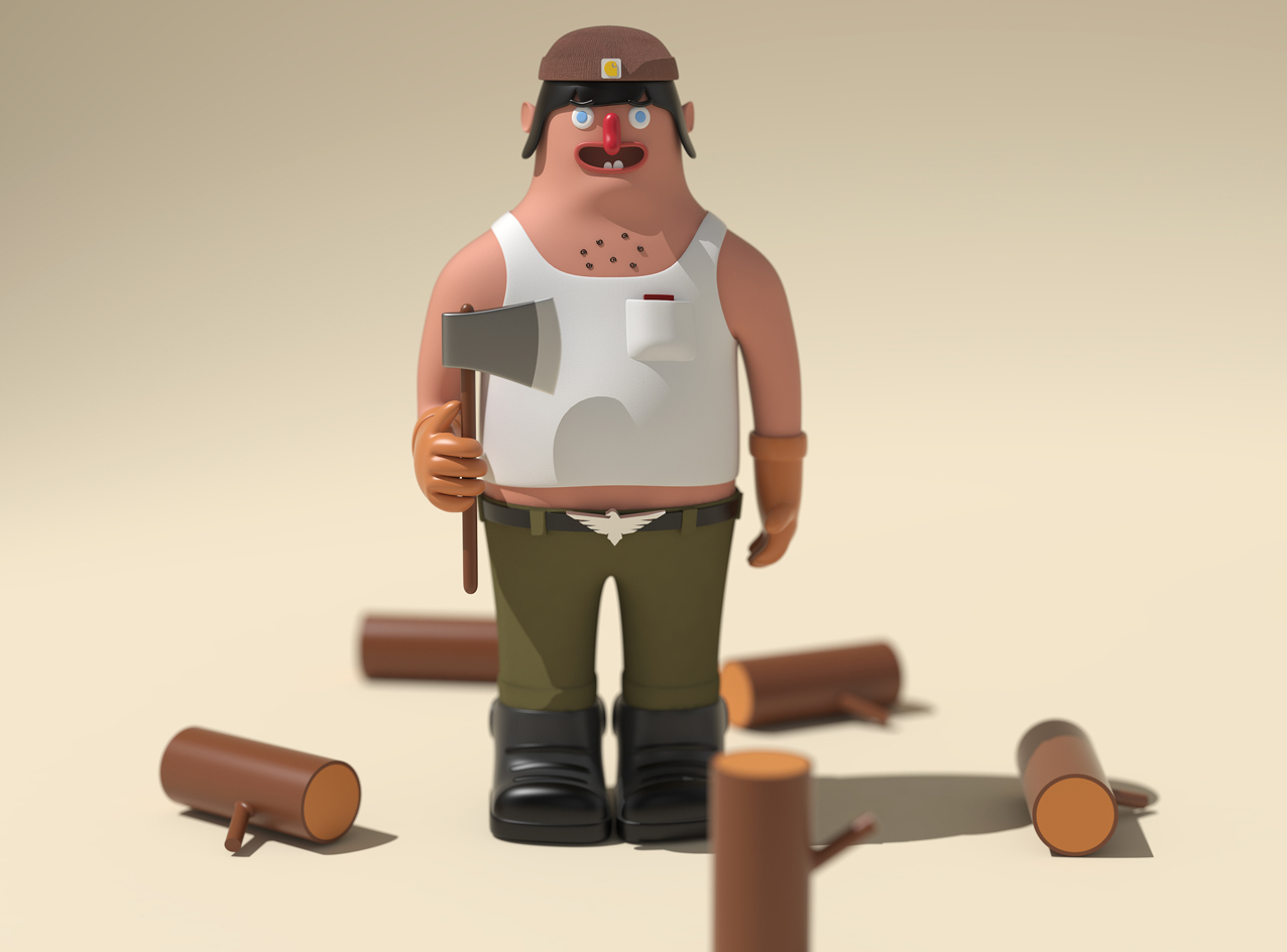 Tonko- the lumber jack - 3D design by Adrian Jan 8, 2018