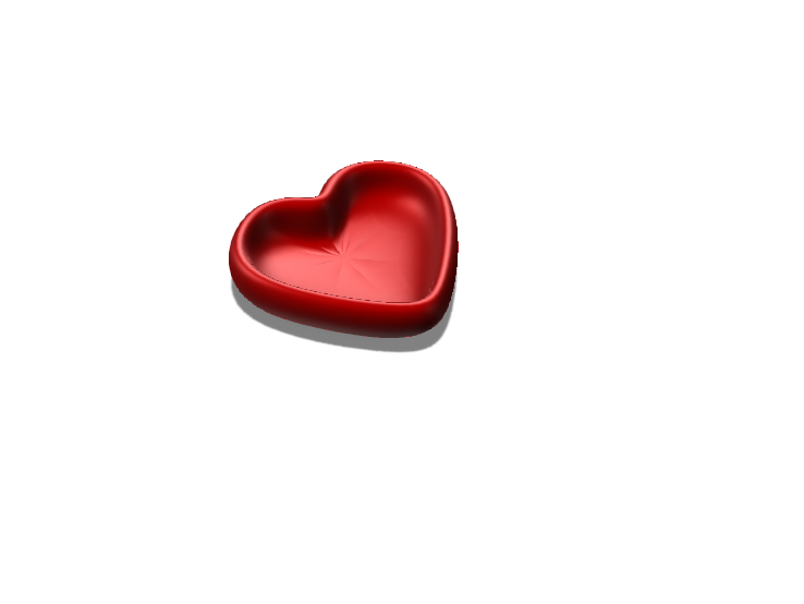 beginners heart bowl - 3D design by Melanie Nielsen on May 19, 2018