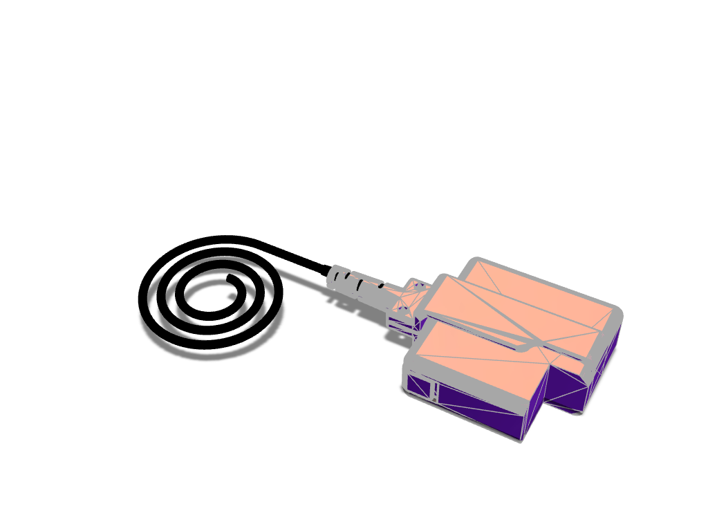 Magsafe Fray Plug - 3D design by roidimitris Jan 10, 2018