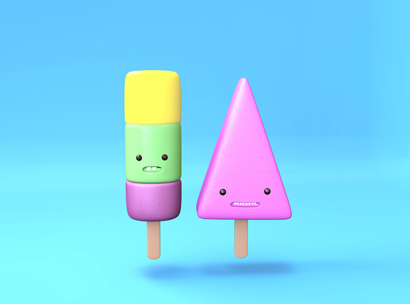 Popsicles - 3D design by Mirka Biel on Apr 17, 2018