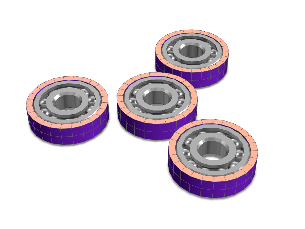 Fidget spinner template | 4 bearings - 3D design by VECTARY Jun 21, 2017