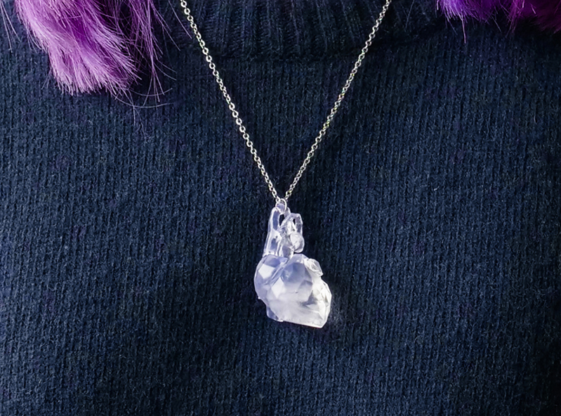 Low poly heart necklace - 3D design by VECTARY Feb 13, 2018