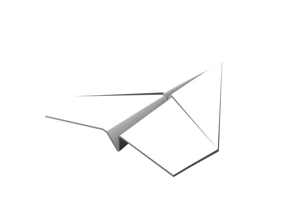 Paper plane - 3D design by Andy Klement Mar 21, 2018