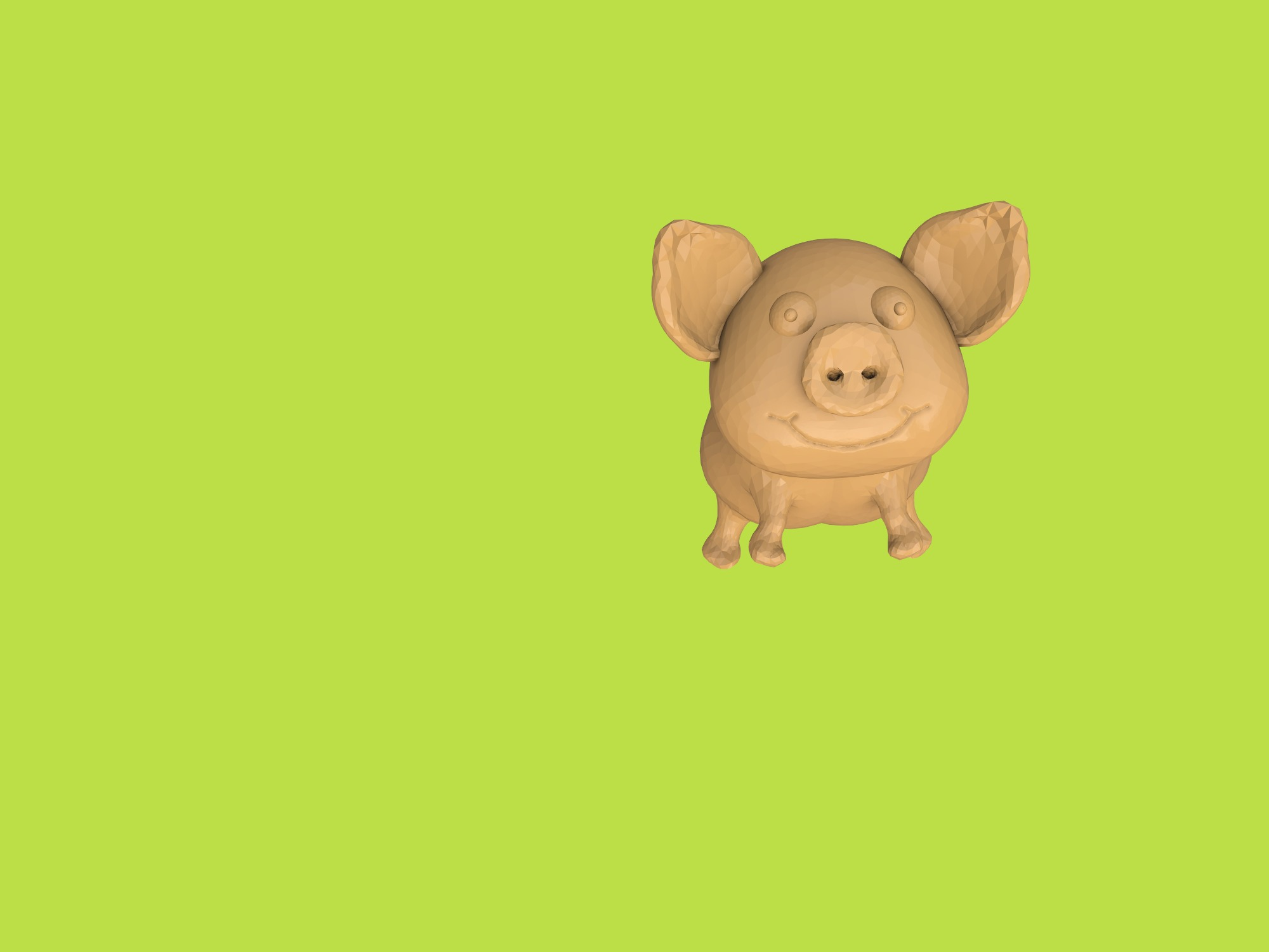 Pig studio Shamanis - 3D design by shamanis on Dec 10, 2018