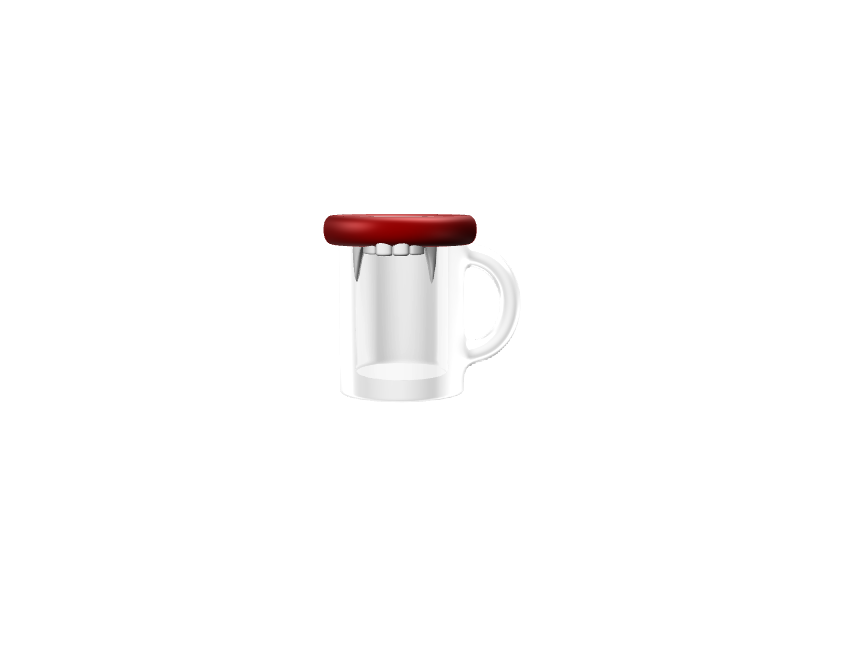 Vampire Mug - 3D design by Mirka Biel Oct 25, 2016