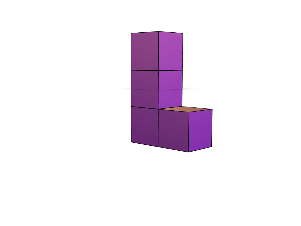 3D Tetris Piece 3 - 3D design by Filipe Simões Dec 11, 2017