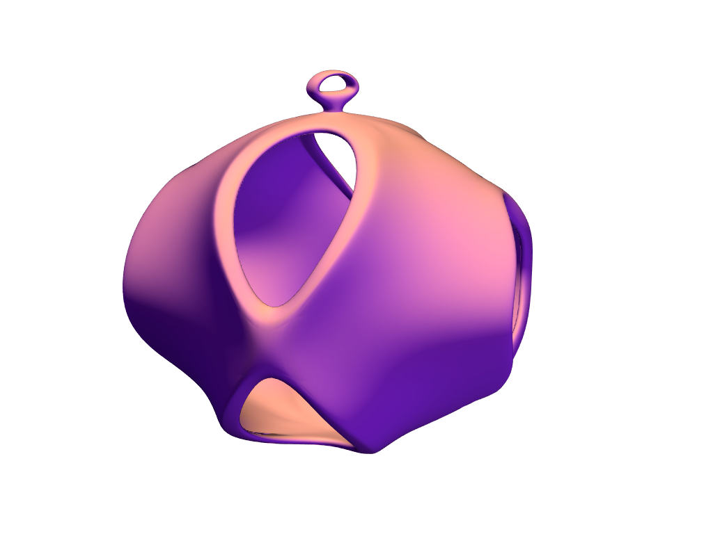 Cosmic bauble - 3D design by sisane on Dec 19, 2017