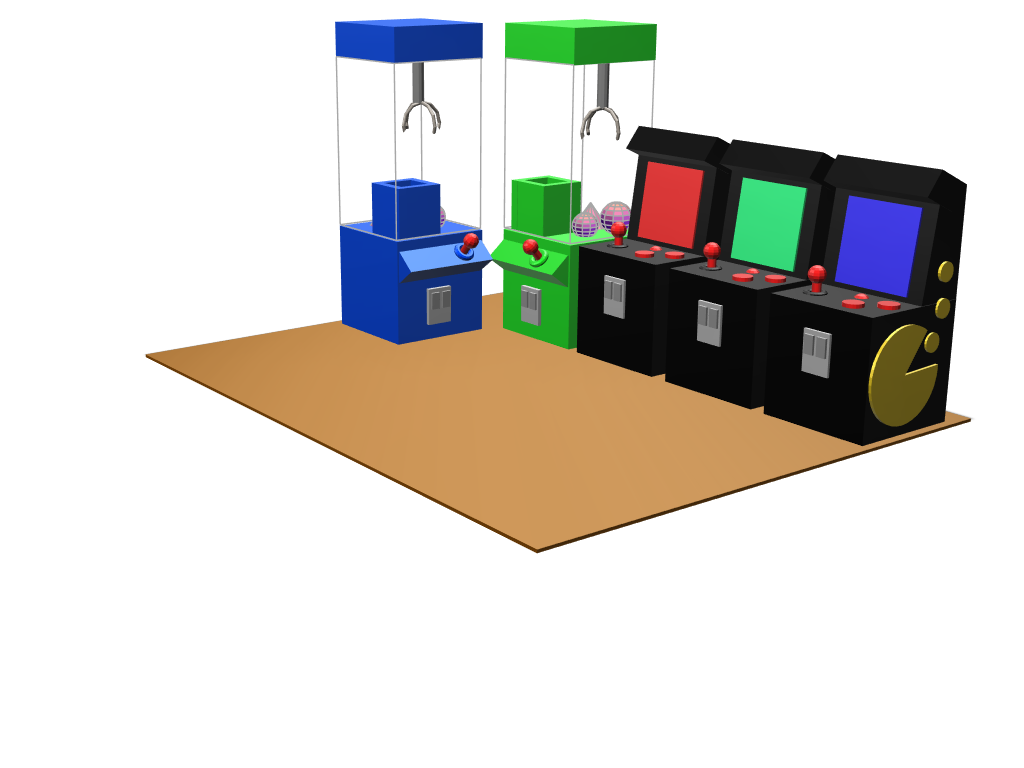 Arcade Games - 3D design by samedpotts May 25, 2018