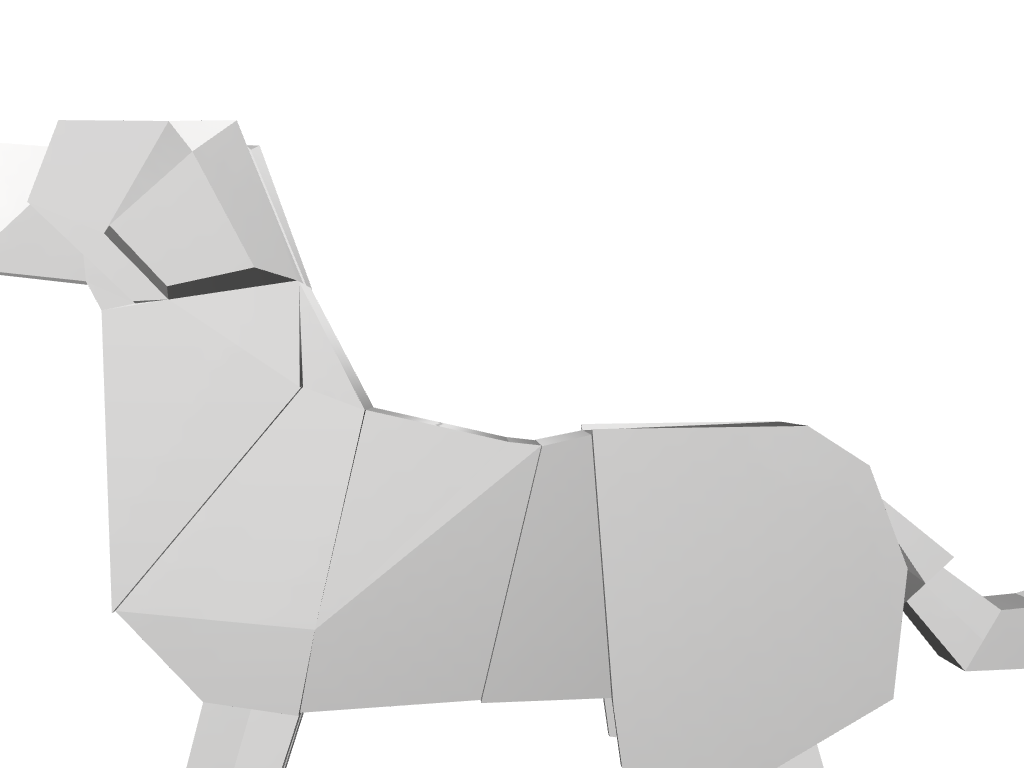 PAPER ORIGAMI DOG. JEWELLERY PENDANT. CHARM - 3D design by Bedirhan Akcan Apr 10, 2018
