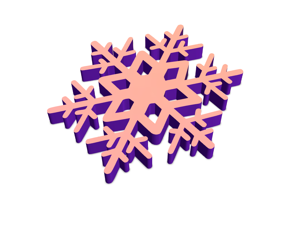 Snowflake template using Noun Project - 3D design by VECTARY Nov 22, 2017