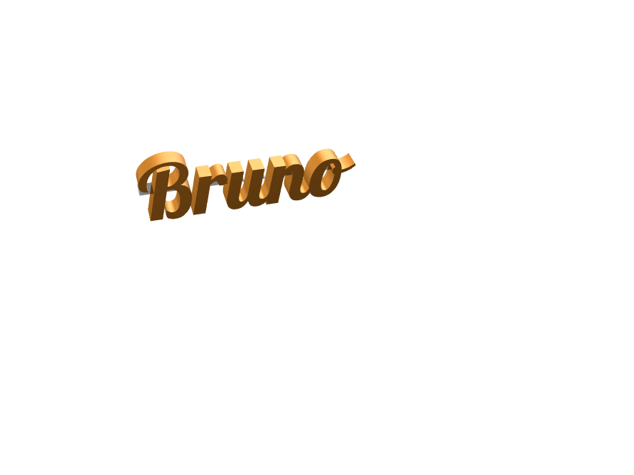 bruno - 3D design by Stevo Deux Point Zéro on Dec 17, 2017