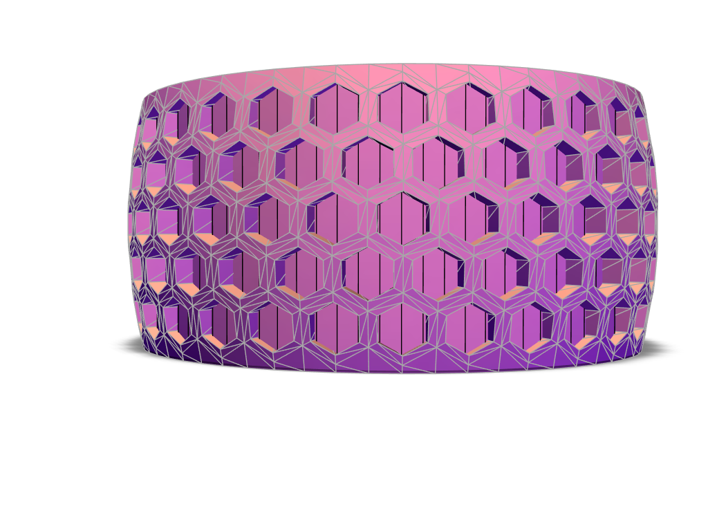 Honeycomb Ring v2 - 3D design by nphillips80 Jun 21, 2018
