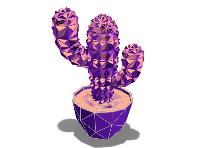 Spiky Cactus - 3D design by Paysonsong on Jan 3, 2018
