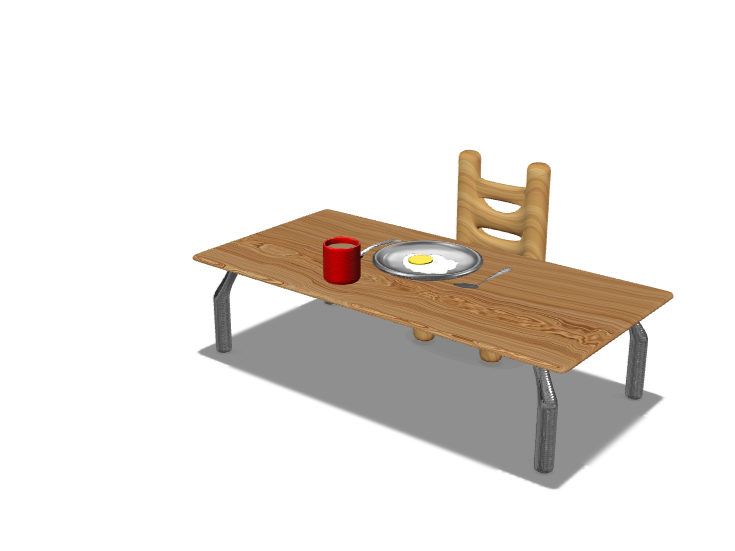 Coffee table, breakfast meal - 3D design by Dylan Manion Oct 31, 2017
