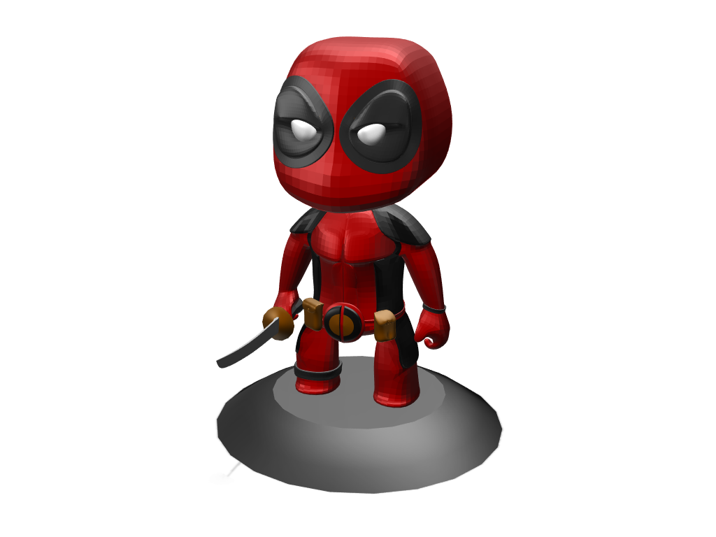 Deadpool Toy - 3D design by Hla Phone Shwe on Mar 7, 2018
