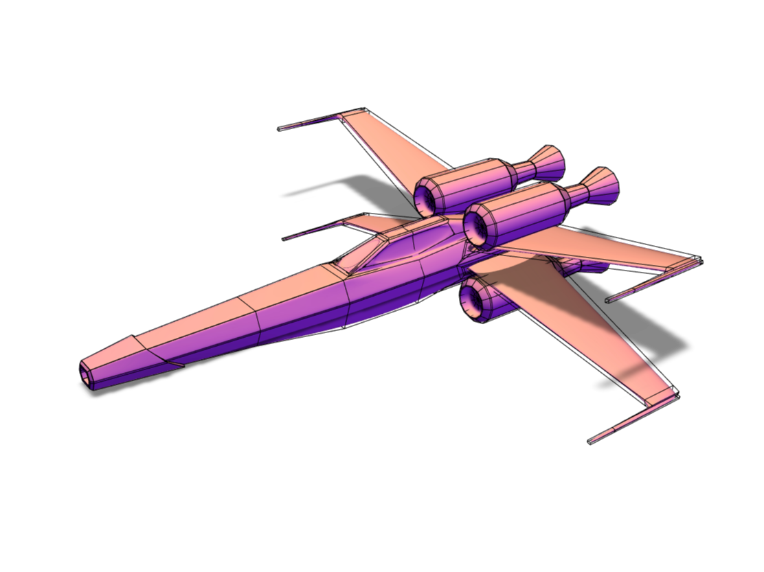 X wing style by me - 3D design by nikola.koleos Feb 13, 2018
